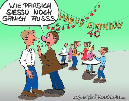 40 Geburtstag Cartoon
