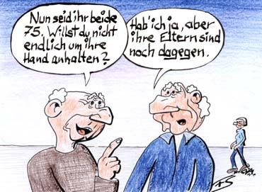 Cartoon liebe ist Love is
