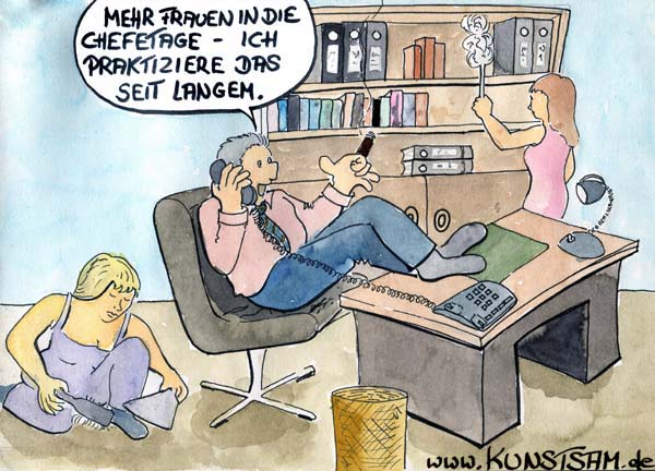 Frauenquote Cartoon