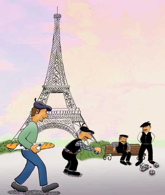 Impressionen aus frankreich illustration