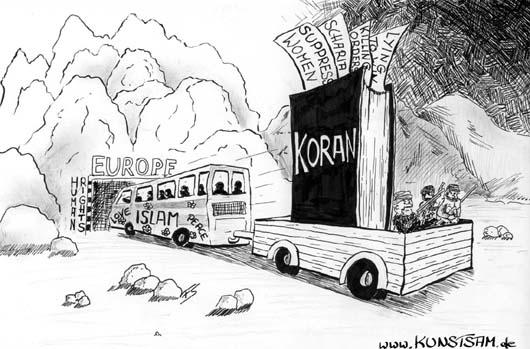 karikatur islam integration zwangsheirat zur karikatur der islam zieht