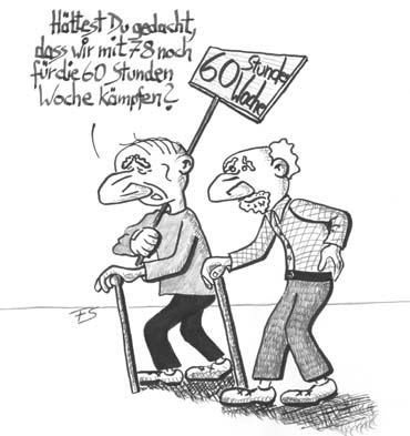 Cartoon karikatur karikatur cartoon zur rente und information zum