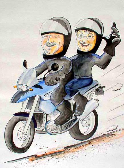 Motorrad cartoon karikatur