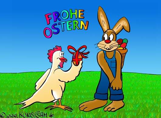 Osterhase Ostern Cartoon