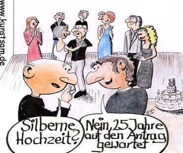 Silberhochzeit Cartoon Und Witz