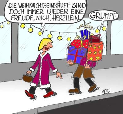 Cartoon: Geschenke Weihnachten - Weihnachtsgeschenke